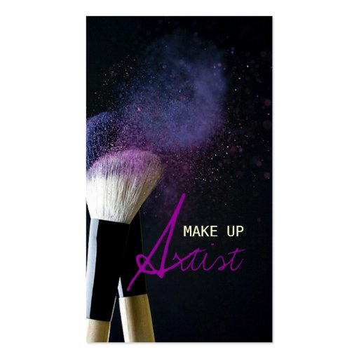 MakeUp Artist , Cosmetologist, Beauty, Salon Double-Sided Standard Business Cards (Pack Of 100)