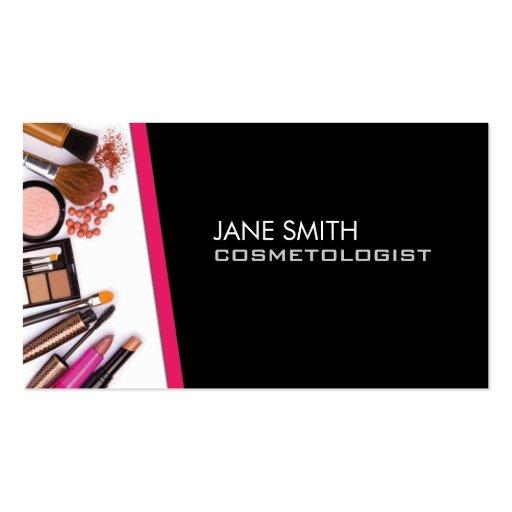 Makeup artist cosmetologist cosmetology elegant business for Business cards for cosmetologist