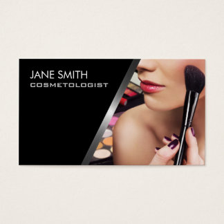 Makeup Artist Cosmetologist Cosmetology Elegant Business Card