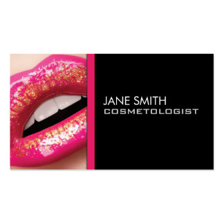 Makeup Artist Cosmetologist Cosmetology Elegant Business Card Templates