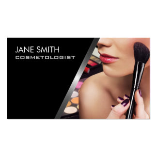 Makeup Artist Cosmetologist Cosmetology Elegant Double-Sided Standard Business Cards (Pack Of 100)