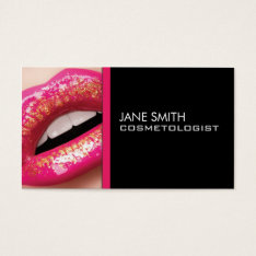 Makeup Artist Cosmetologist Cosmetology Groupon Business Card at Zazzle