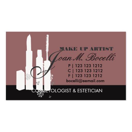 Makeup Artist Cosmetologist Custom Style Business Card
