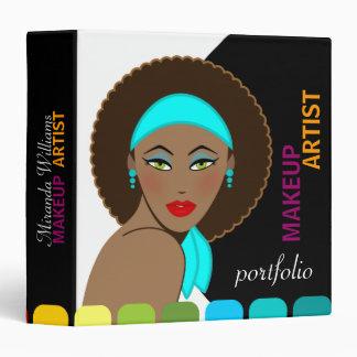 "Makeup Artist / Cosmetologist Portfolio 1.5"" 3 Ring Binder"