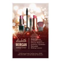 Makeup Artist Cosmetologist Shiny Glitter Sparkle Flyer