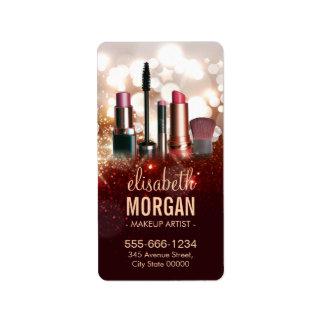 Makeup Artist Cosmetologist Shiny Glitter Sparkle Label