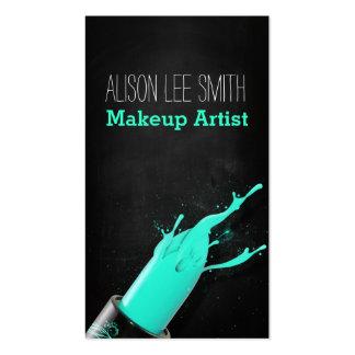 Makeup Artist/Cyan Lipstick Business Card