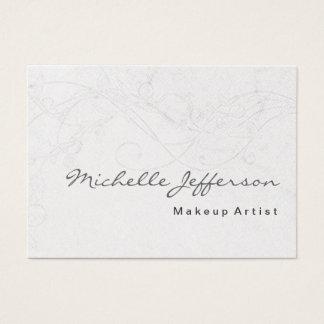Makeup Artist Damask Pattern Business Card