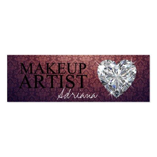 Makeup artist diamond business cards