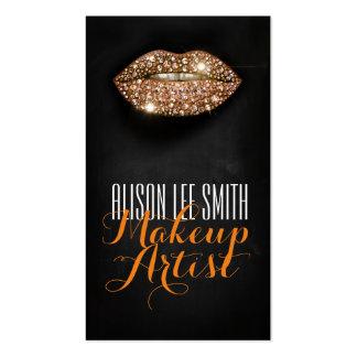 Makeup Artist / Diamonds Sparkle Lips Tarjetas De Visita