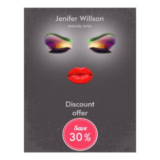 Makeup Artist Discount Offer Flyer