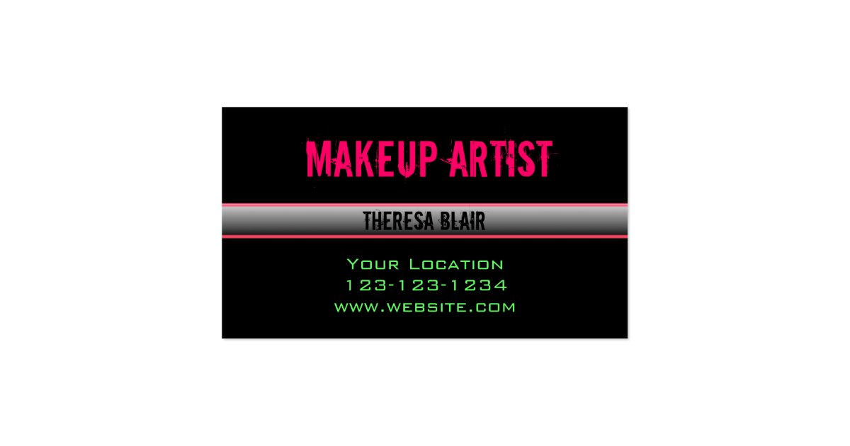Makeup artist edgy business card zazzle for Edgy business cards