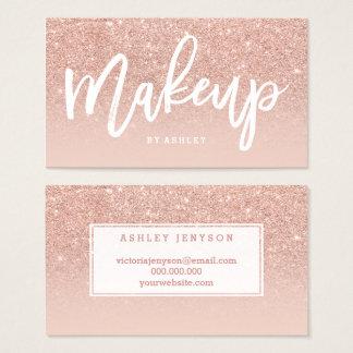 Makeup artist elegant typography blush rose gold business card