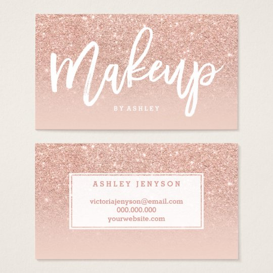 makeup artist business cards - photo #21