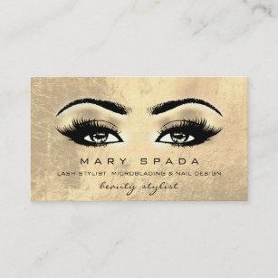 Esthetician business cards templates zazzle makeup artist eyebrows lashes gold esthetician business card colourmoves