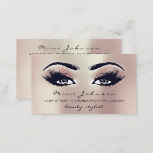 Esthetician business cards zazzle makeup artist eyebrows lashes pink esthetician business card friedricerecipe Images