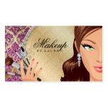 Makeup Artist Eyelash Brushes Cosmetology Pink g Business Cards