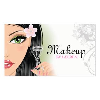Makeup Artist Eyelash Curler Gray Business Card