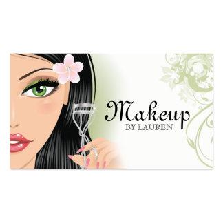 Makeup Artist Eyelash Curler Green Business Card