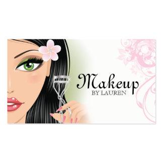 Makeup Artist Eyelash Curler Pink Business Card