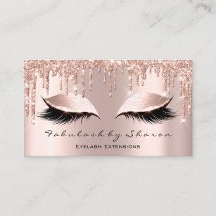 19f64906e8e Makeup Artist Eyelash Lashes Glitter Drips Rose Business Card