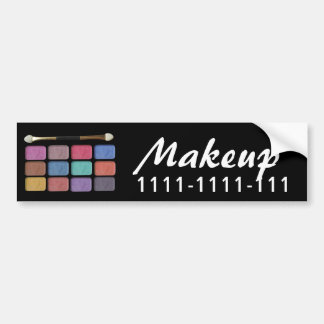 Makeup artist eyeshadows palette   digital design bumper sticker