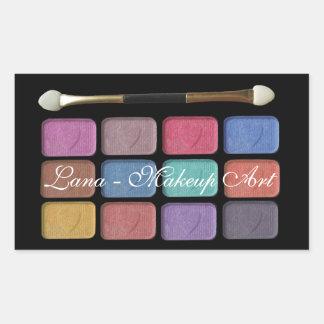 Makeup artist eyeshadows palette   digital design rectangular sticker