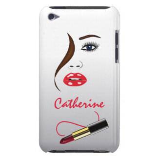Makeup Artist Face & Lipstick in the Mirror iPod Touch Case