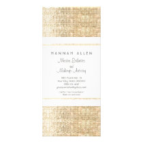 Makeup Artist Faux Gold Sequins Rack Card