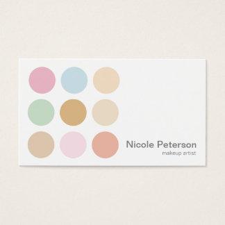 makeup artist - fine pastel polka dots business card
