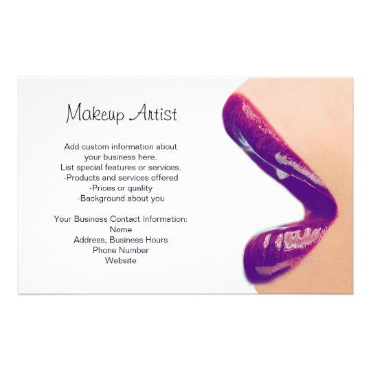 makeup artist flyer zazzlecom