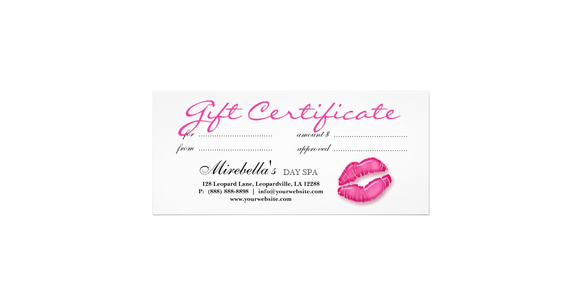 Makeup Artist Gift Certificate Pink Zazzle
