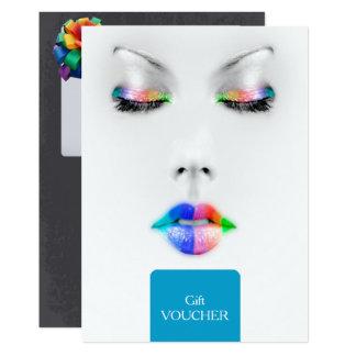 Makeup Artist Gift Voucher Card