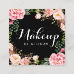 """Makeup Artist Girly Romantic Floral Wrapping Square Business Card<br><div class=""""desc"""">Make your business card stand out with this &quot;Makeup Artist Girly Romantic Floral Wrapping Square Business Card&quot; template. It&#39;s easy and fun! (1) For further customization, please click the &quot;Customize&quot; button and use our design tool to modify this template. All text style, colors, sizes can be modified to fit your...</div>"""
