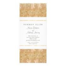 Makeup Artist Gold Sequins Rack Card
