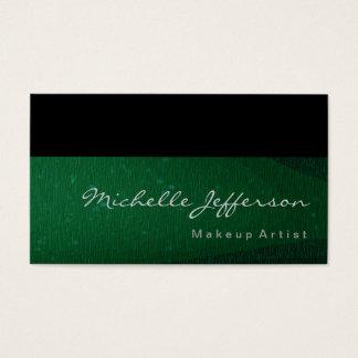 Makeup Artist Green Black Standard Business Card