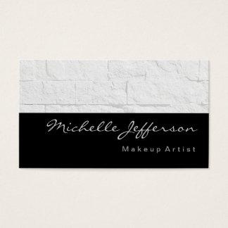 Makeup Artist Grey Wall Brick Business Card