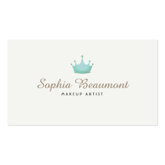 Makeup Artist Hair and Beauty Turquoise Crown Business Card