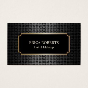 Lawyer Themed Makeup Artist Hair Stylist Classical Black Glitter Business Card
