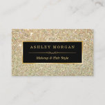 "Makeup Artist Hair Stylist Funky Gold Glitter Business Card<br><div class=""desc"">This design is perfect for Event Planner, Wedding Coordinator, Photography, Interior Designer, Makeup Artist, Massage Therapist, Hair Stylist, Nail Technician, Cosmetologist, Hairdresser, SPA Store, Salon Store, and more. (1) For further customization, please click the &quot;customize further&quot; link and use our design tool to modify this template. All text style, colors,...</div>"