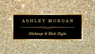 Makeup artist business cards zazzle makeup artist hair stylist funky gold glitter business card colourmoves
