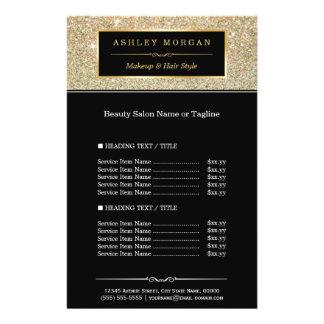Makeup Artist Hair Stylist Gold Glitter Glamour Flyer