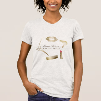 Makeup Artist Hair Stylist Modern Beauty Salon T-Shirt
