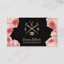 Makeup Artist & Hair Stylist Salon Vintage Floral Business Card