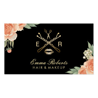 Vintage floral business cards templates zazzle for Hair and makeup business cards