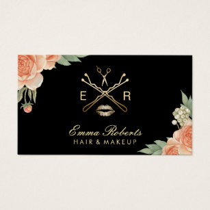 Elegant business cards templates zazzle makeup artist hair stylist vintage floral elegant business card colourmoves