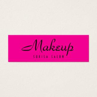 Makeup Artist Hot Pink Skinny Business Cards