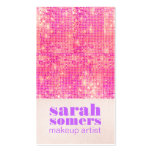 Makeup Artist Hot Pink Sparkly Sequins Girly Double-Sided Standard Business Cards (Pack Of 100)