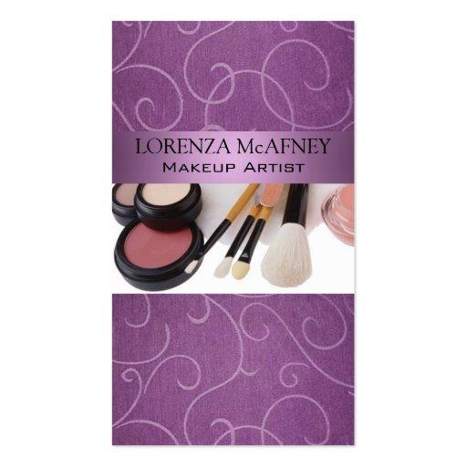Makeup Artist II Professional Cosmetologist Business Card