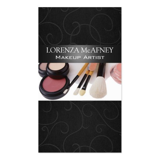 Makeup artist ii professional cosmetologist double sided for Business cards for cosmetologist